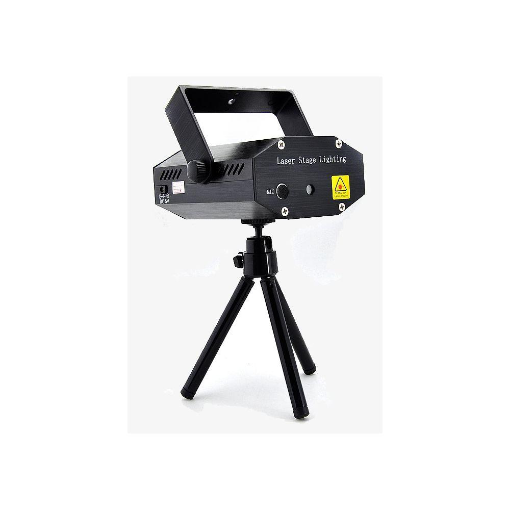 Mini projecteur laser avec d tecteur son et strob planete discount for Laser projecteur
