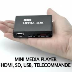 Mini média player pour TV, HDMI, USB, SD, AV