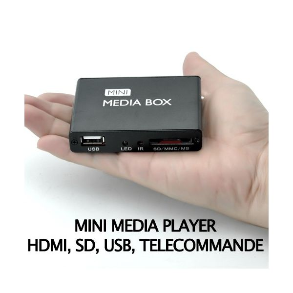 Mini média player pour TV, HDMI, USB, SD, AV