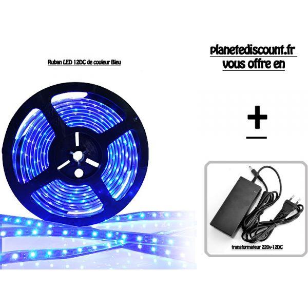 ruban flexible étanche à LED de couleur bleu