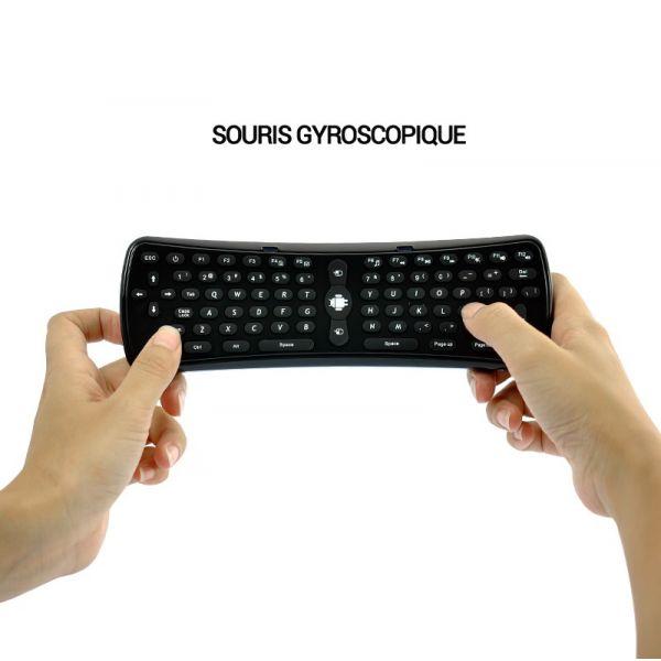 Mini clavier sans fil, souris gyroscopique pour box Android, PC, Mac