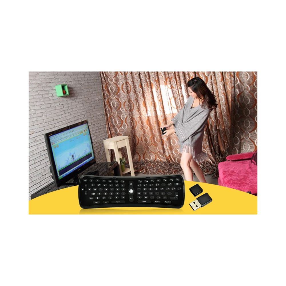 achat clavier souris sans fil gyroscopique android pc. Black Bedroom Furniture Sets. Home Design Ideas