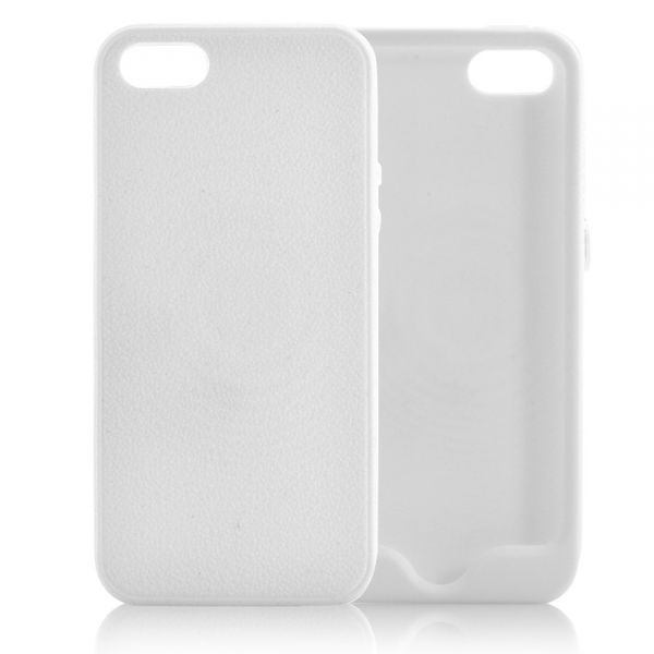 Coque iPhone 5 Souple, Fine - Blanche