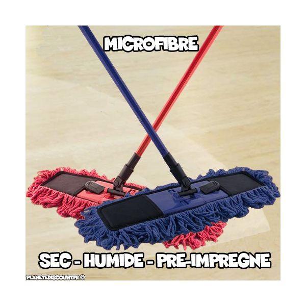 Balai à Franges Microfibre Flat
