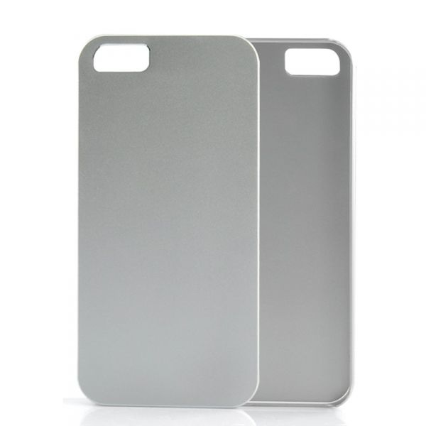 Coque iPhone 5 Rigide, Fine - Argent