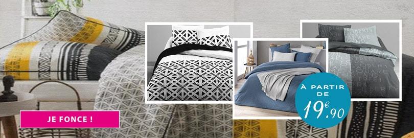 Linge de lit à petit prix