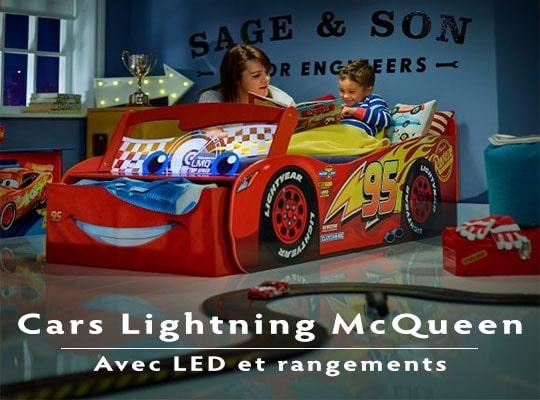 Lit Cars lumineux avec rangements