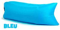 Pouf sofa air, transat, hamac auto gonflable - Bleu