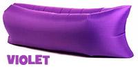 Pouf, transat, hamac gonflable pour plage Violet